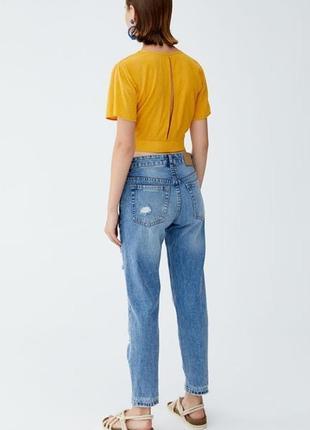 Стильные джинсы pull&bear с потёртостями и разрывами р. 382 фото