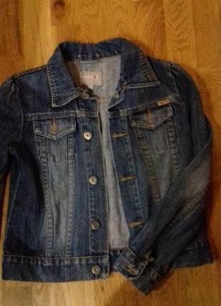 Джинсовый жакет пиджак куртка