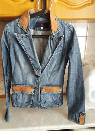 Стильный джинсовый пиджак, турция, р. s/36/44