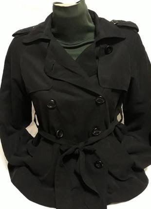 Крутой базовый укороченый плащ, брендовый пиджак/жакет! модная куртка с поясом