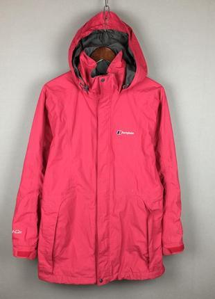 Розовая женская мембранная куртка berghaus aqua foil 2 трекинговая горно лыжная 3в1