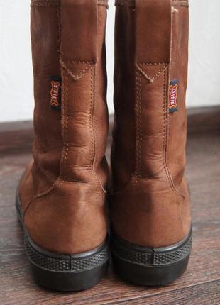 Высокие демисезонные ботинки sisley на толстой подошве3