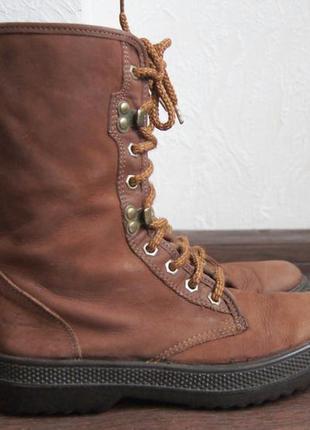 Высокие демисезонные ботинки sisley на толстой подошве1