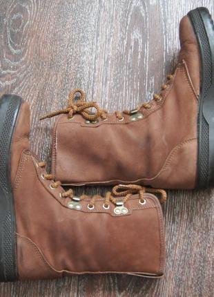 Высокие демисезонные ботинки sisley на толстой подошве4