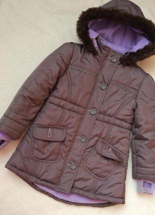 Демисезонная еврозима куртка пальто kiki&koko на 4 года рост 104 см