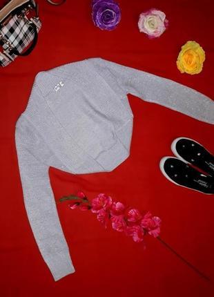 Распродажа! стильное фирменное болеро накидка с люрексом, размер 42 - 44