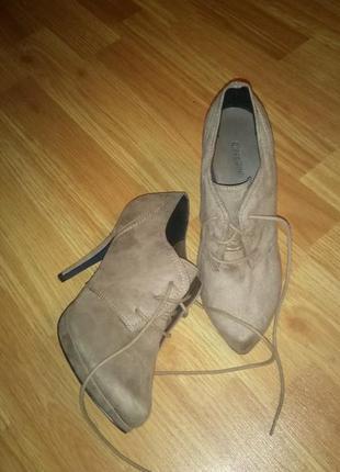 Замшевые ботинки 39 размер
