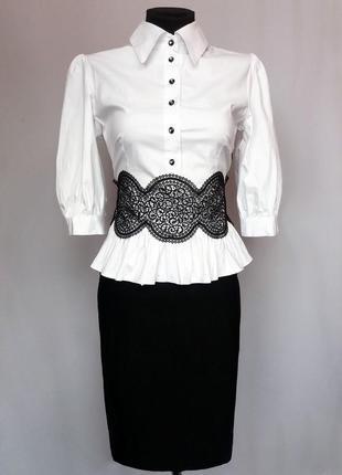 Суперцена. стильное черно белое платье, кружево. турция. новое, р. 44-48