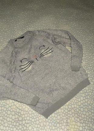 Пушистый свитер котик 5-6 лет