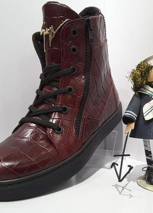 Ботинки сапоги для  девочки весна -осень tifflani -кожа скидки р 31, 35, 36
