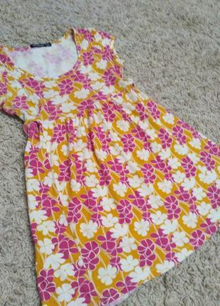 Туника платье atmosphere, 44-46 р. (s/м), блуза с цветочным принтом, для беременной