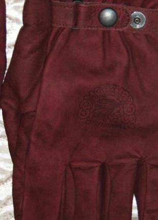 Кожаные перчатки - зимние - comahcheros original l - нубук