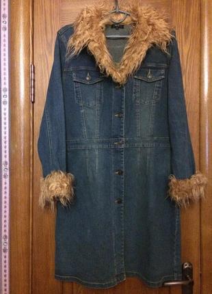 Куртка джинс пальто плащ тренч  демисезонное весеннее осеннее джинсовое новое