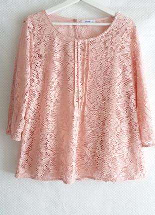 Красивая кружевная блуза george 16 (xxl)