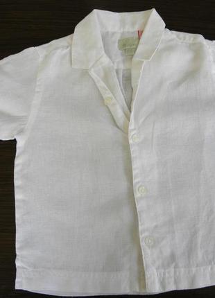 Льняная рубашка для маленького модника