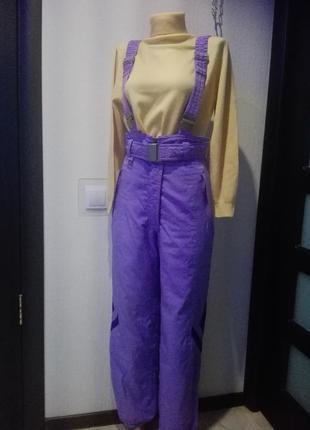 Лыжный зимний комбинезон-штаны на подтяжках от evf rodeo