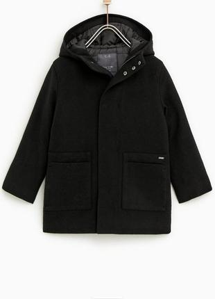 Драповое пальто куртка zara
