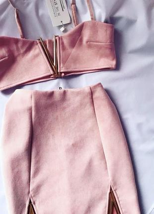 Нереальный замшевый пудровый пыльная роза комплект сет rose pink in the style set 6 xs
