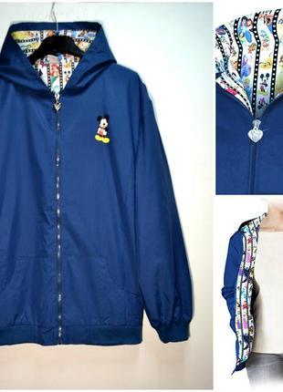 Оригинальная стильная женская курточка ветровка с капюшоном forever disney' ladies