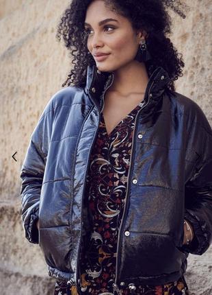Эффектная стеганая оверсайз куртка 48-52 размер