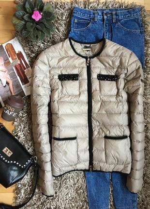 Легкая куртка весна-осень на пуху twin-set. как новая!