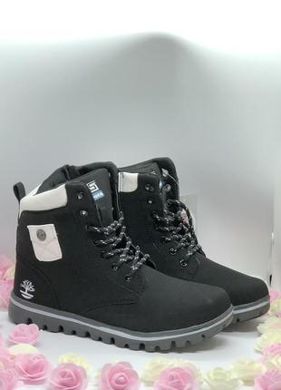 Зимние черные ботинки, кроссовки
