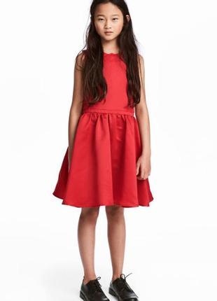 Красное сатиновое платье, пышное платье 0568226