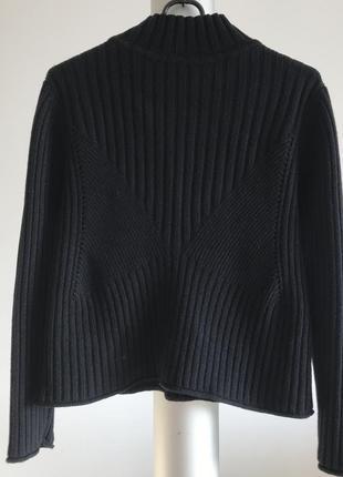 Синий вязаный шерстяной гольф свитер d.bari
