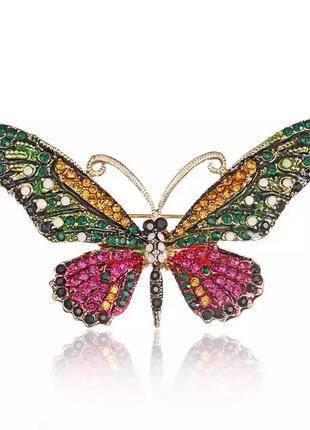 Брошь бабочка крупная