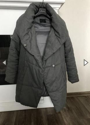 Стильный пуховик одеяло верхняя одежда ,куртка из непромокаемого волокна с шерстью