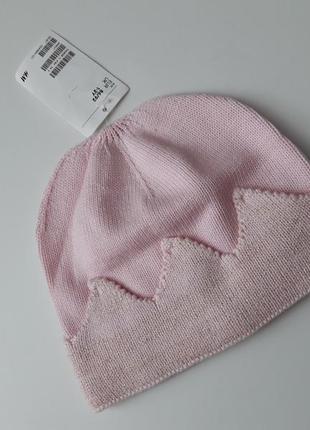 """Демисезонная шапка на девочку """"корона"""" от h&m,р.86-92"""
