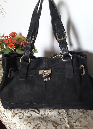 Элегантная сумка из натуральной кожи