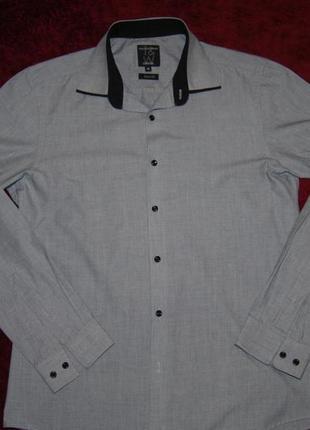 Мужская стильная брендовая рубашка европейское качество