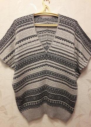 Болеро, свитер, 50, m&s, ангора, хлопок,  полиамид, вискоза.