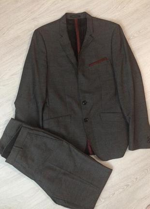 Шикарный шерстяной костюм!  zara man