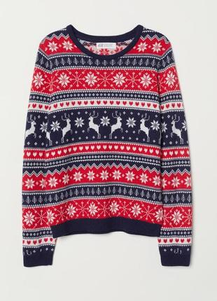 Теплый свитер 2-10 лет h&m