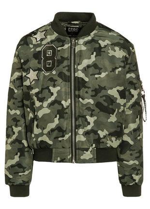 Куртка бомбер cars jacket becky olive