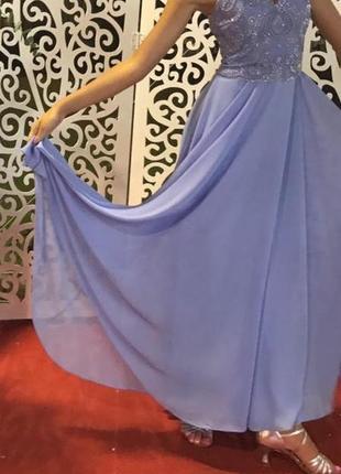 Платье вечернее длинное нарядное выпускное в пол испания s\xs