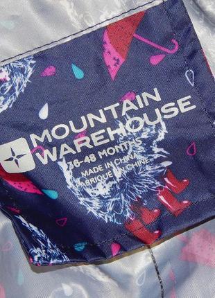 Крутой комбинезон-дождевик mountain warehouse, для девочки 3-4 года.5