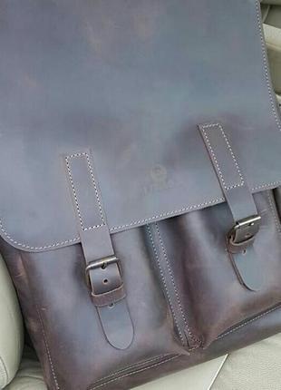 Крутой кожаный рюкзак lumax