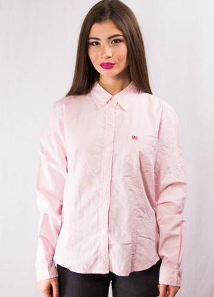 Оригинальная льняная рубашка в полоску ralph lauren
