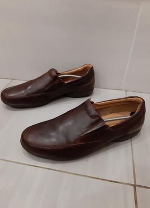 Кожаные  туфли слипоны 43 размер