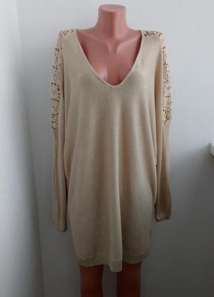 P xl-xxl красивый свитер с качественным кружевом !
