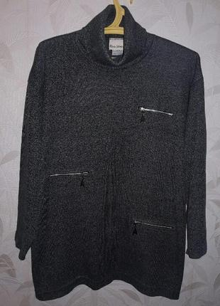 Свитер, туника,48-50, sevenhill, cotton,  polyester