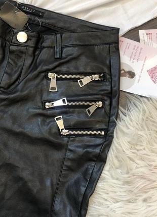 Кожаннве штаны mohito
