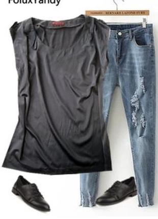 Прямая шолковая блуза размер 48-50