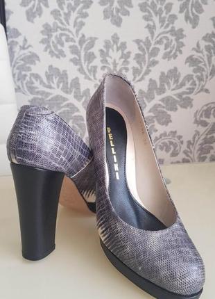 Невероятные итальянские кожаные туфли fellini / 36 размер / натуральная кожа