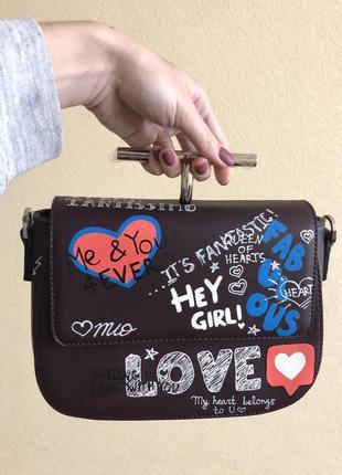 Трендовая сумка  с надписями