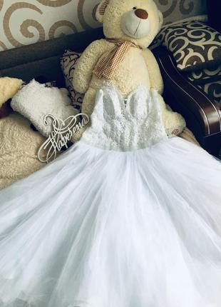 Продам свадебное платье большого размера 52-56