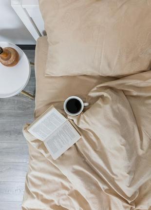 "Евро комплект постельного белья из сатин-жаккарда ""бурбон"", 100% хлопок, шана-текстиль"